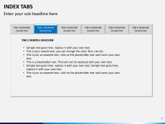Index tabs PPT slide 12