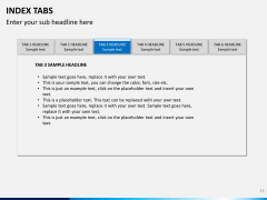 Index tabs PPT slide 13