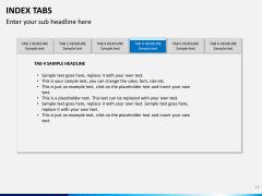Index tabs PPT slide 14