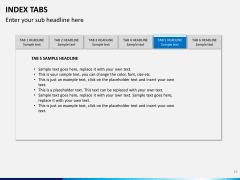 Index tabs PPT slide 15