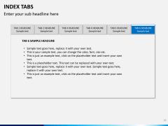 Index tabs PPT slide 16