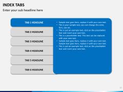 Index tabs PPT slide 17