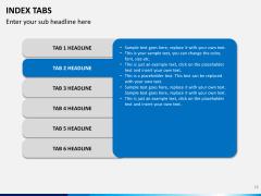 Index tabs PPT slide 18
