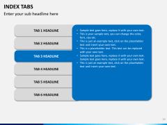 Index tabs PPT slide 19