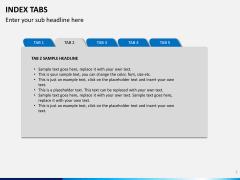 Index tabs PPT slide 2
