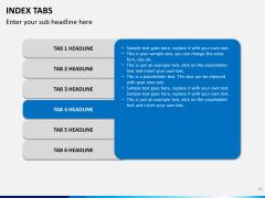 Index tabs PPT slide 20