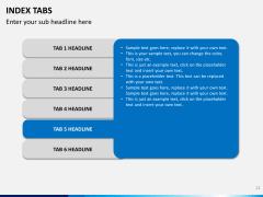 Index tabs PPT slide 21