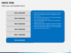 Index tabs PPT slide 22
