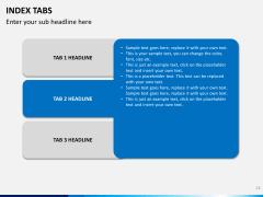 Index tabs PPT slide 24