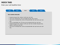 Index tabs PPT slide 3