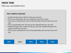 Index tabs PPT slide 32