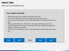 Index tabs PPT slide 33