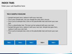 Index tabs PPT slide 34