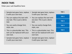 Index tabs PPT slide 36