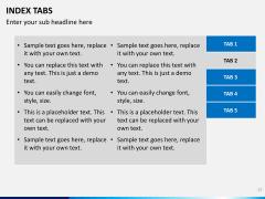 Index tabs PPT slide 37