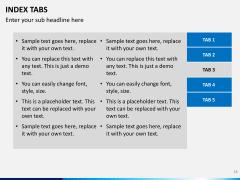 Index tabs PPT slide 38