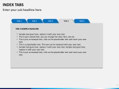 Index tabs PPT slide 4