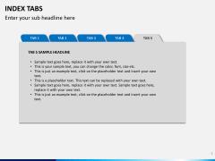 Index tabs PPT slide 5