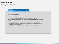 Index tabs PPT slide 6