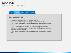 Index tabs PPT slide 7
