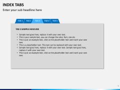 Index tabs PPT slide 8