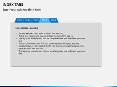 Index tabs PPT slide 9