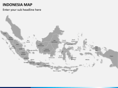 Indonesia map PPT slide 1