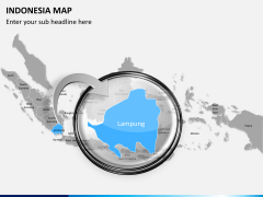 Indonesia map PPT slide 12