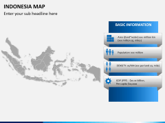 Indonesia map PPT slide 14