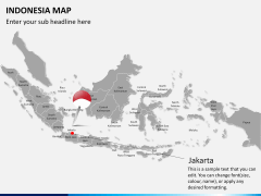 Indonesia map PPT slide 16