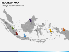 Indonesia map PPT slide 2