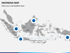 Indonesia map PPT slide 3