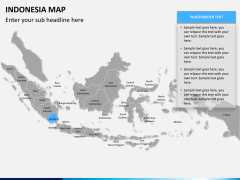 Indonesia map PPT slide 7