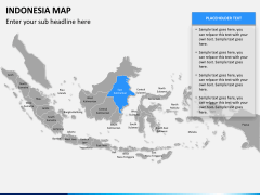 Indonesia map PPT slide 8