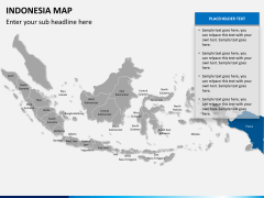Indonesia map PPT slide 9