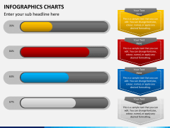 Infographic charts PPT slide 9