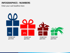 Infographic numbers PPT slide 10
