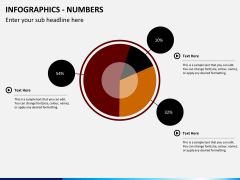 Infographic numbers PPT slide 13