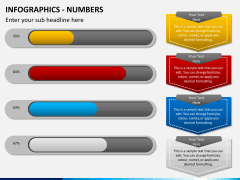 Infographic numbers PPT slide 19