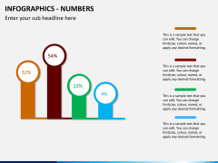 Infographic numbers PPT slide 21
