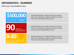 Infographic numbers PPT slide 22
