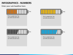 Infographic numbers PPT slide 24