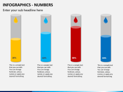 Infographic numbers PPT slide 25