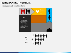 Infographic numbers PPT slide 26