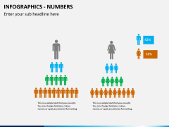 Infographic numbers PPT slide 28