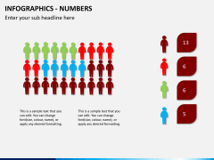 Infographic numbers PPT slide 8