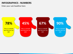 Infographic numbers PPT slide 9