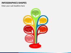 Infographic shapes PPT slide 10