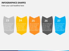 Infographic shapes PPT slide 16