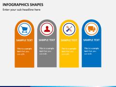 Infographic shapes PPT slide 18